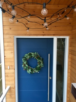 Wreath shown with our DIY: Damage Free Sting Lights project!