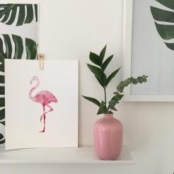 Mini blush vase from The Artworks (downtown Edmonton)